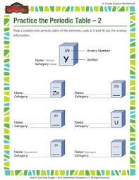 practice the periodic table u2013 2 u2013 chemistry for 5th grade u2013