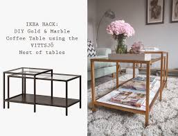 ikea hack diy gold and marble coffee table using the vittsjo nest