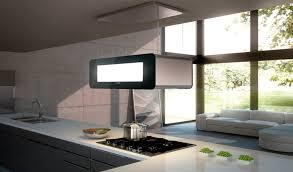 hotte ilot cuisine hotte de cuisine îlot avec éclairage intégré skyline berbel