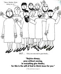 jesus heals ten lepers coloring page eson me