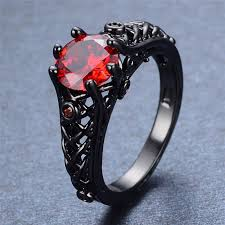 black ruby rings images Black titanium red ruby ring empire of the gods jpg