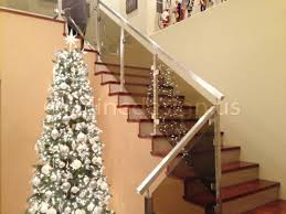 Glass Handrails For Stairs Stainless Steel Glass Railing Square Stairs Lower Post Inline Design