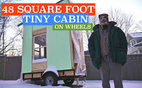 future 48 square foot airbnb tiny cabin house on wheels rental