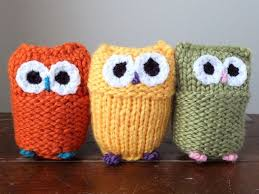 crafted custom owls knitted crocheted crib toys ornaments
