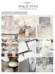 gray and white wedding inspiration board color palette mood