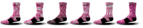 breast cancer custom nike elite socks and arm sleeves u2013 hoopswagg