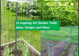 How To Grow Cucumbers On A Trellis 15 Inspiring Diy Garden Trellis Ideas For Growing Climbing Plants