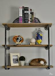 Industrial Pipe Bookcase How To Create An Industrial Pipe Shelf Hey Fitzy