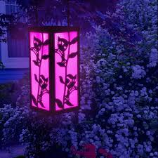 decorative hanging solar lights hanging lantern color changing christmas decoration solar