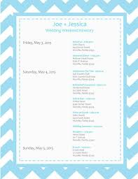 wedding itinerary template for guests 6 free wedding itinerary templates for word and excel