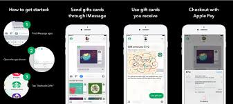 starbucks rolls out imessage app for gifting digital cards with