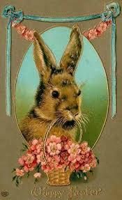 rabbit easter basket vintage easter image best bunny rabbit vintage easter easter