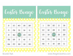printable easter bingo game the creative