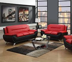 Leather Couches And Loveseats Amazon Com Gtu Furniture Contemporary Bonded Leather Sofa