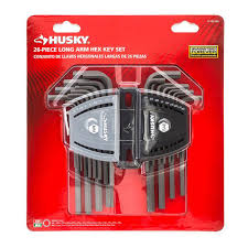 Hex Key Set by Husky Hex Key Set Allen Wrench Long Arm Sae Metric Alloy Steel 26