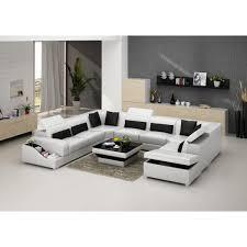 canapé d angle avec rangement canapé d angle panoramique en cuir jazz 8 places avec coffre de rang