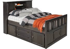Trundle Bed With Bookcase Headboard Full Beds