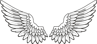 eagle wings spread clipart black and white png clipartxtras