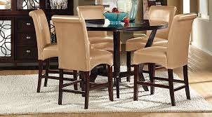 cindy crawford home highland park ebony 5 pc counter height dining