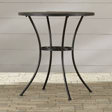 round bistro table outdoor alcott hill barker ridge round bistro table with slate top reviews