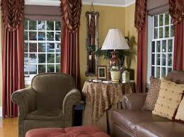Country Living Curtains Appealing Plain Ideas Country Living Room Curtains Cozy Design