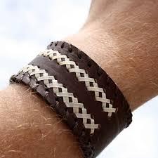 braided leather cuff bracelet images Leather bracelet for men jpg