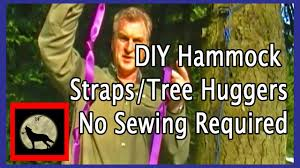 diy hammock straps tree huggers no sewing required youtube