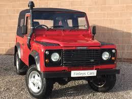 red land rover defender land rover defender 90 2 5 td5 finleys cars