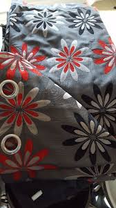 Black Eyelet Curtains 66 X 90 2 Pairs Of 66 X 90 Harry Corry Black Grey Red Floral Eyelet