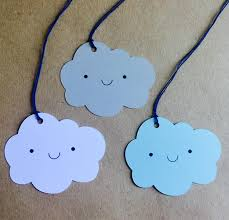 Gift Wrapping Accessories - happy face cloud gift tags cloud tags wedding favors gift