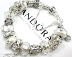 pandora silver bracelet with charms images Pandora bracelet etsy jpg