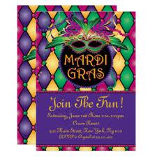 mardi gra mardi gras party invitations announcements zazzle