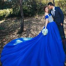 blue wedding dress robe de mariage 2017 royal blue wedding dress bridal