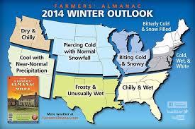 Snow Forecast Map The Farmers U0027 Almanac Outrageous Forecast A Frigid Snowy Winter