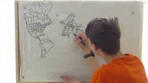 Map From World Drawn From Memory Youtube