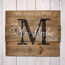 last name with est date rustic wooden sign made from reclaimed
