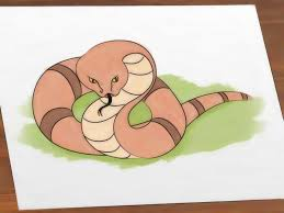 2 ways to draw a simple snake step by step wikihow