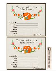 woodland baby shower invitations free printable woodland baby shower party invitations