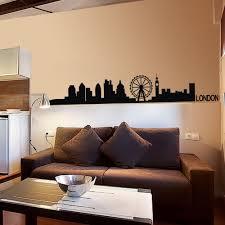 aliexpress com buy london skyline wall decal decor livingroom aeproduct