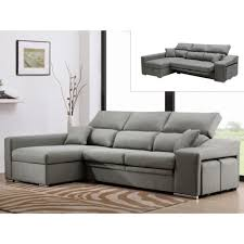 assise canape canapé d angle en tissu lusali avec assise coulissante gris