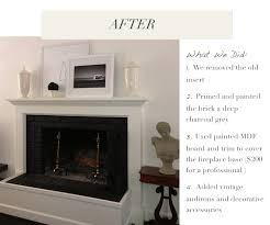 How To Cover Brick Fireplace by Chic Du Monde Brick Fireplace Makeover Chic Du Monde