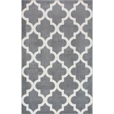 Area Rugs Gray Interior 9 Ft X 12 Ft Trellis Moroccan Gray And White Area Rug