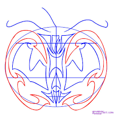 how to draw a tribal pumpkin face step by step halloween