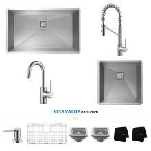 kitchen sink faucet combo kitchen sink and faucet combos at faucetdirect com upgrade your