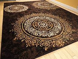 Black Modern Rugs Luxury Century Brand New Contemporary Brown And Beige Modern Wavy