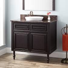 cherry double sink vanity signature hardware