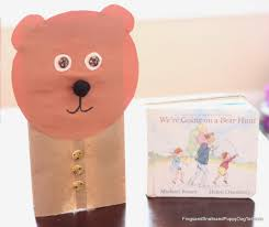 paper bag bear puppets for we u0027re going on a bear hunt fspdt