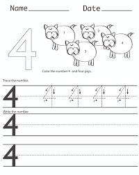 free worksheets for kindergarten number 4 1 free worksheets for