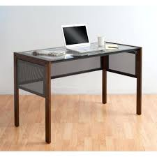 desk glass and wood desk costco glass curved wood computer desk
