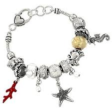 star bracelet charm images Pandora inspired sea life charm bracelet seahorse star coral crab jpg